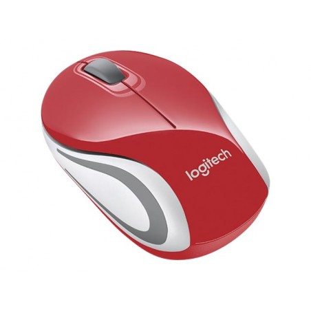 Logitech Wireless Mini Mouse M187 red