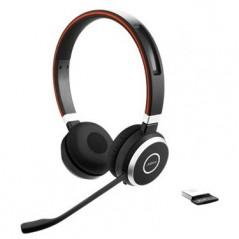 Jabra Evolve 65 MS Stereo Binaural Kopfband black Heads