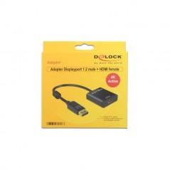 Displayport Adapter Delock DP -  HDMI St/Bu 4K Aktiv